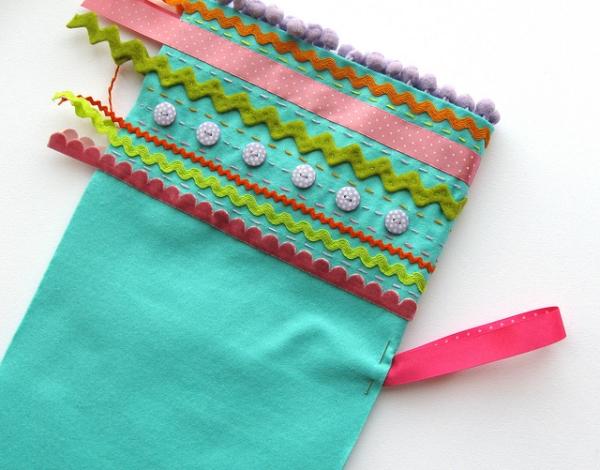 Add lines of stitching