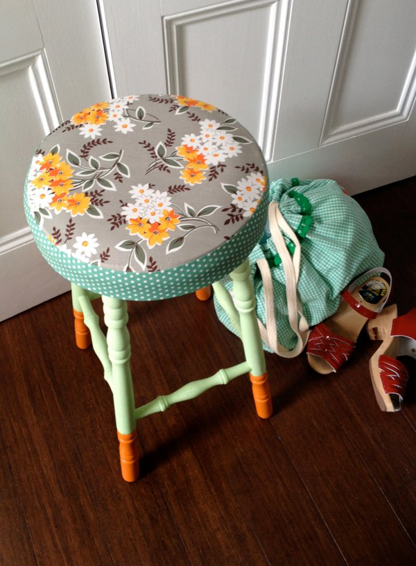 boring old stool a beautiful makeover final