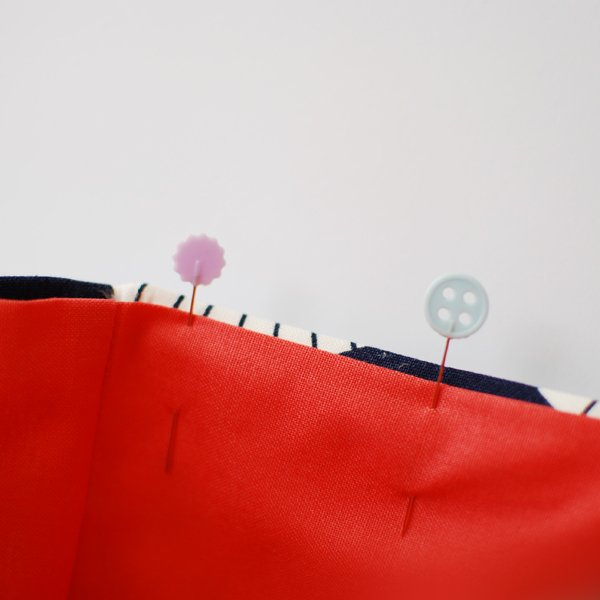 the red thread envelope clutch Step 7a