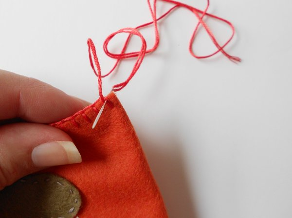 embroidered felt book cover step 11