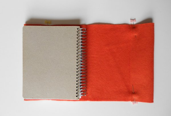 embroidered felt book cover step 8