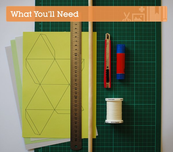 the red thread geometric mobile what you need