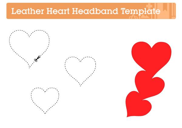 Make a Leather Heart Headband via Crafttuts+