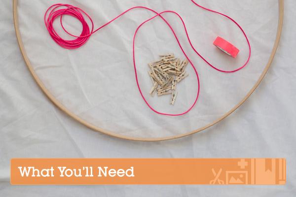 string hoop inspiration board supplies
