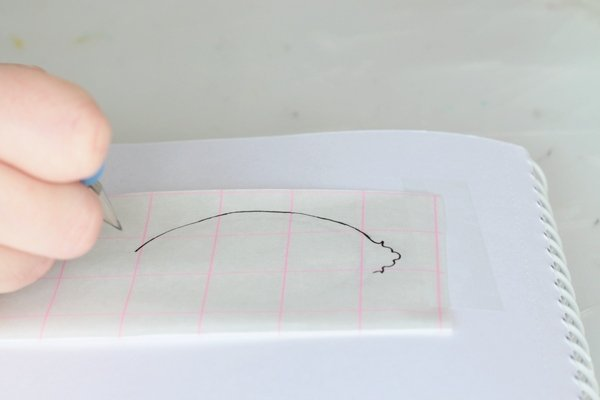 silhouette vases-trace border