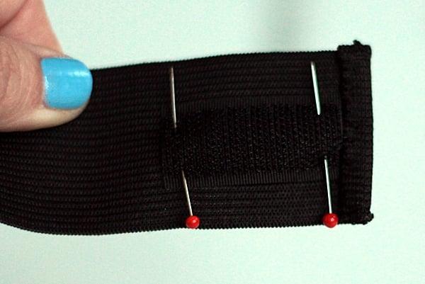 pencil case tutorial-pin velcro