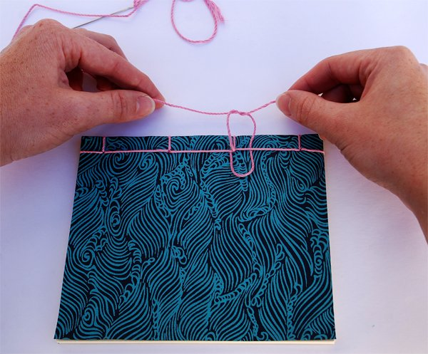 Tie a knot with the two ends of your thread
