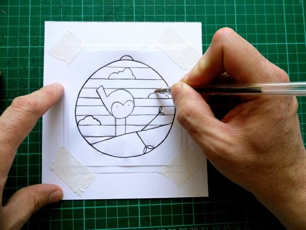 papercut bauble step three