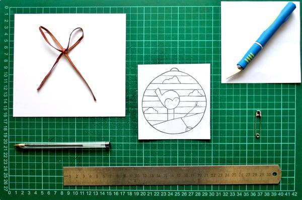 papercut bauble supplies