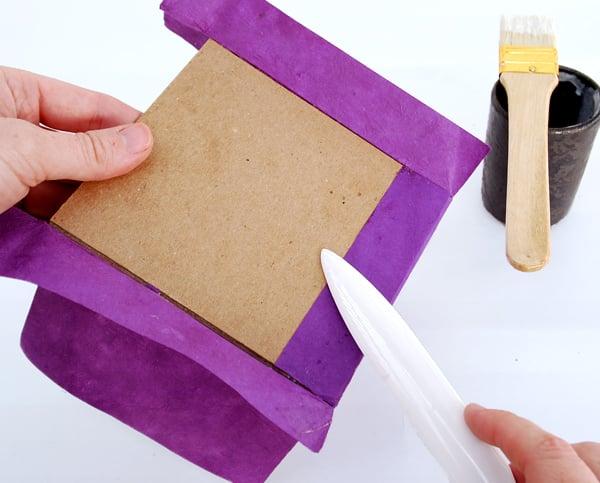 rub with a bone folder