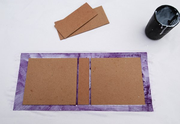 Arrange the pieces down on the glue using your board scraps as a spacer