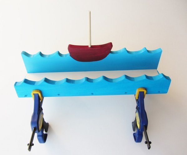 Boat Shelf Painted Clamp (2)