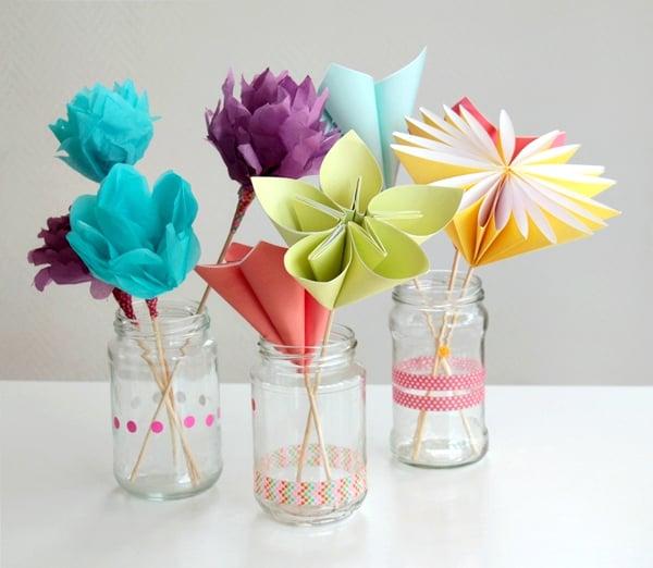Paper flowers tutorial