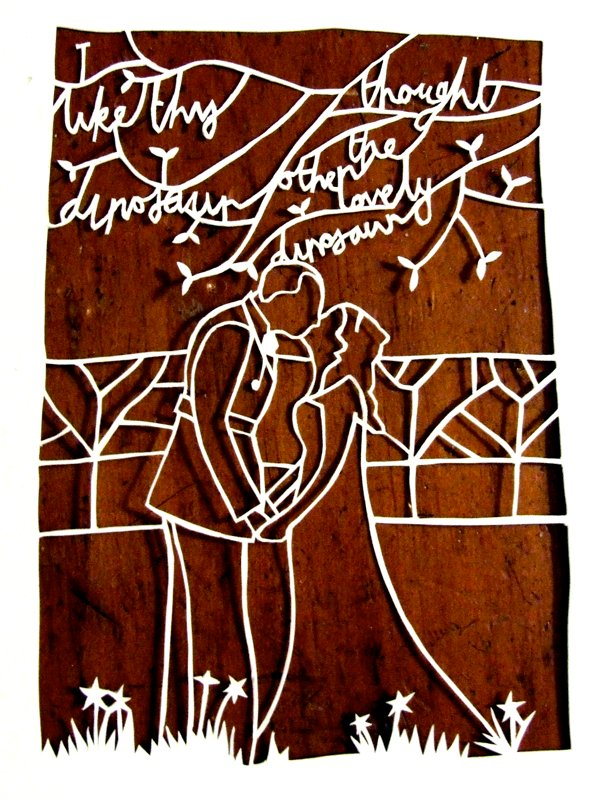 Wedding papercut by Robyn Wilson Owen via Tuts+