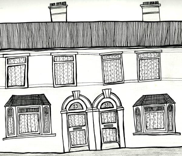 Victorian Terrace Building by Robyn Wilison Owen via Tuts=