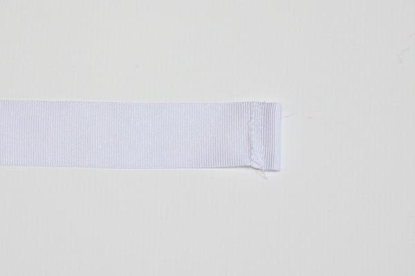 sew edges of ribbon