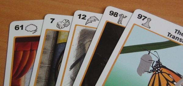 Notice that each card has different symbols