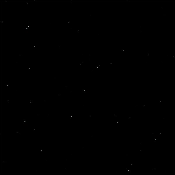 The final result – a whole starscape procedurally generated by our Sequence Generator!