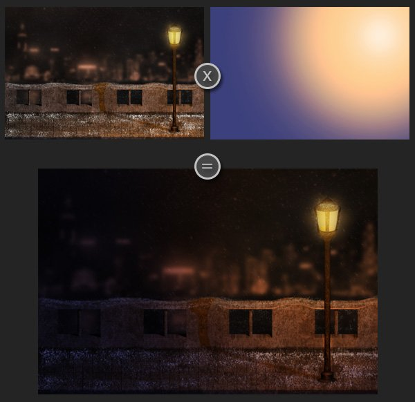 Creating a Snowy Night Scene Using Particle Effects