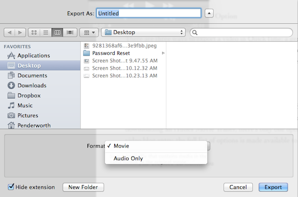 With audio exporting, there's only one rational option to choose.