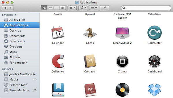 My Applications folder.