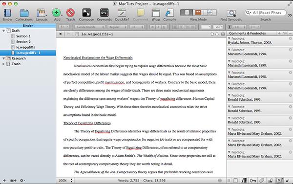 Scrivener Word Document