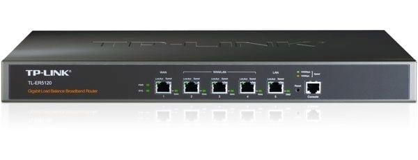 A TP-Link TL-ER5120 Load Balancing Router - other makes are available.