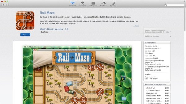 A typical app page listing on the Mac App Store