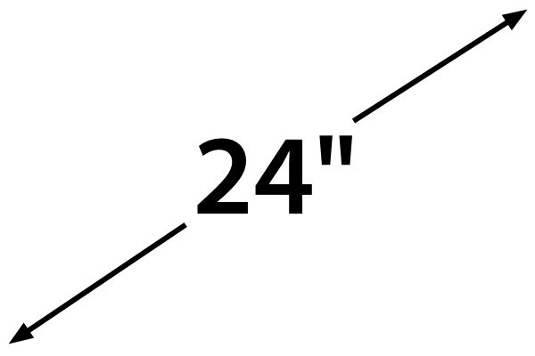 Display size is measured diagonally