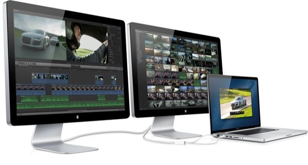 Thunderbolt allows for some pretty amazing display setups