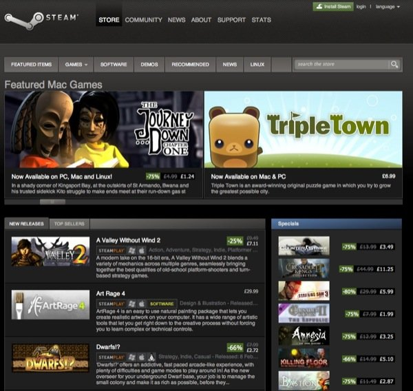 Steam is the largest online gaming distribution service and has cemented it's name as the go-to place for games