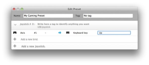 We can specify which key we want our controller buttons to trigger on both a keyboard or mouse