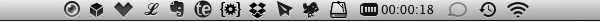 When a VPN connection is established you will see a timer on the menu bar