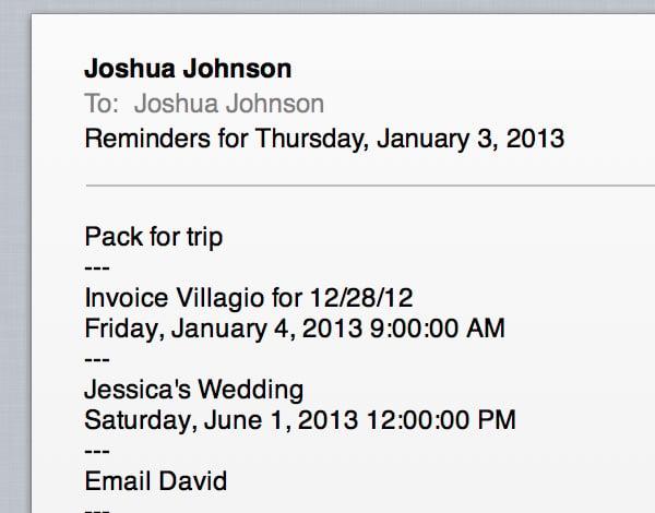 Reminder Email