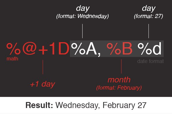 This code outputs tomorrow's date