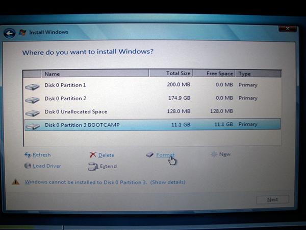 Windows 7 Bootcamp