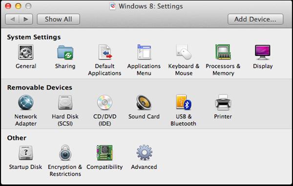 Windows 8 Settings