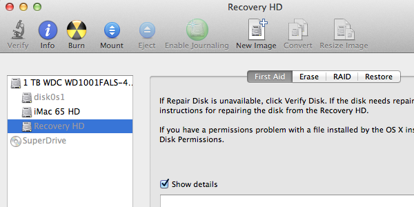 Selecting the Recovery Partition and Mounting it to Make it Active.
