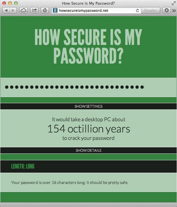 Testing Password Security