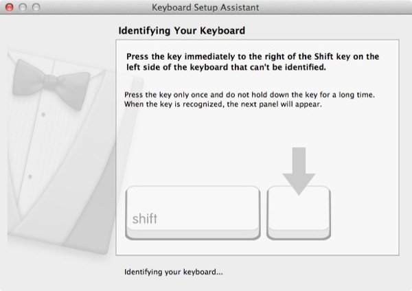 Step 2 To confirm the layout OS X will ask you to press certain keys
