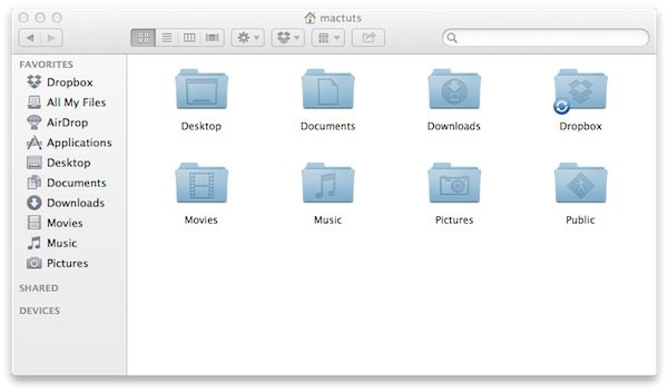 Dropbox automatically creates it's own folder that will always remain in sync.