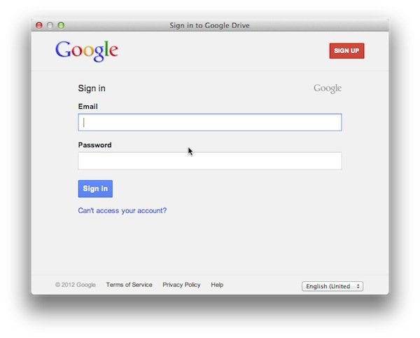 Google Drive requires a Google account.