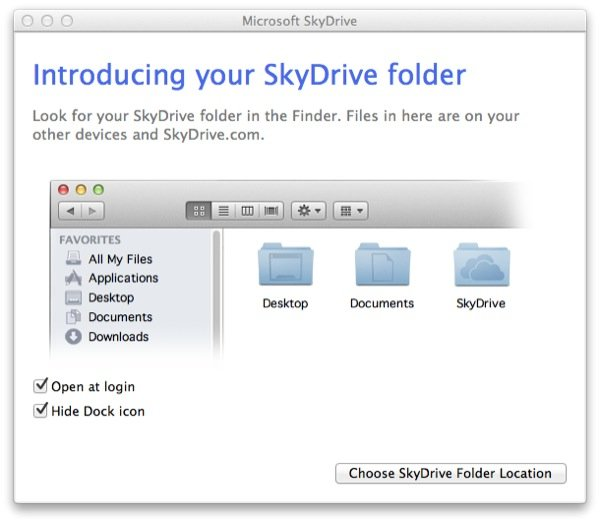 You can opt to have SkyDrive open at login (which should be done if you want to make sure it's automatic).