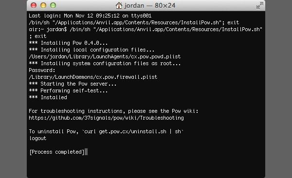 Pow installs via Terminal but don't worry, it's painless!