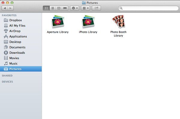 Your iPhoto library can usually be found in your Pictures folder