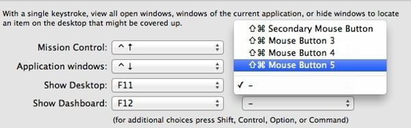 Set keyboard shortcuts for actions
