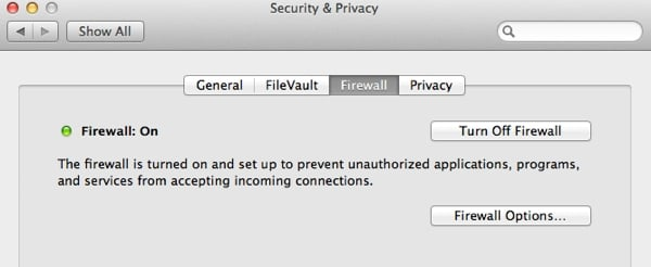Activate your Firewall