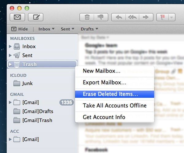 Deleting App Specific Trash Can Help Save Disk Space On Your Mac