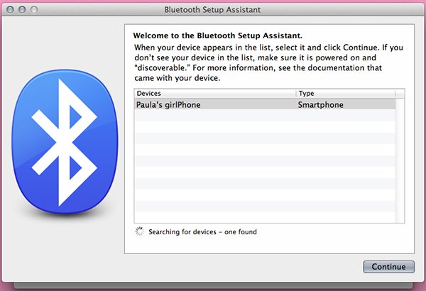 Find your device in your Bluetooth Preferences and add it to your remembered devices.