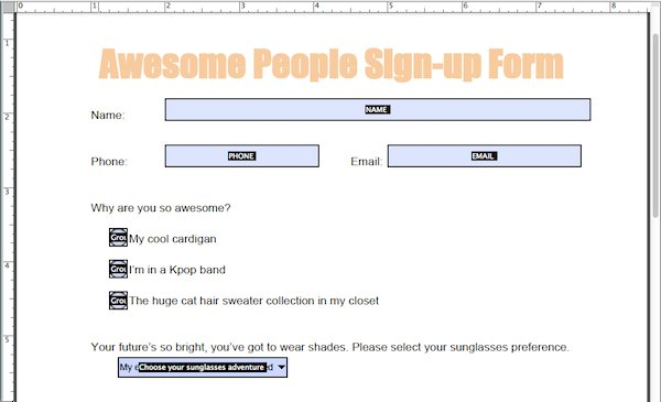 When you're done, your finished form will look like this, or even cooler.
